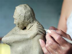 Sculpting a clay model